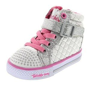 Skechers Twinkle Toes Shuffles Chatter High Top